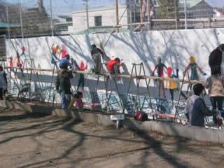 ボランティア塗装